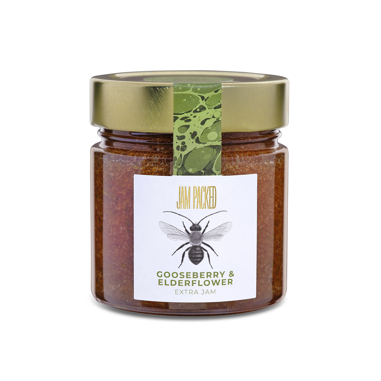 gooseberry and elderflower extra jam