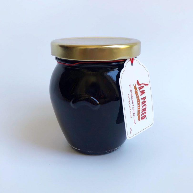 silvanberry extra jam in orcio jar